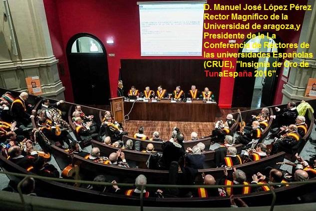 TunaEspaña,Carlos Espinosa, Don Dudo, Insignia de Oro, Rector Universidad, CRUE,02