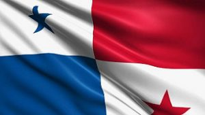 Panamanian flag with fabric structure