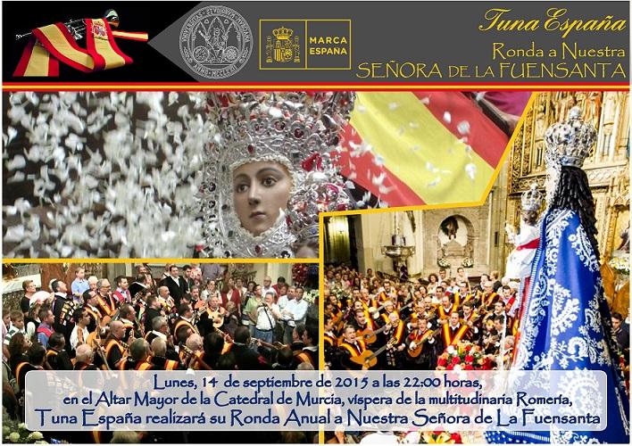 CARTEL FUENSANTA 2015 dos BUENO ODscuro, TunaEspaña, Cancionero de Tuna, Musica de Tuna,Dism