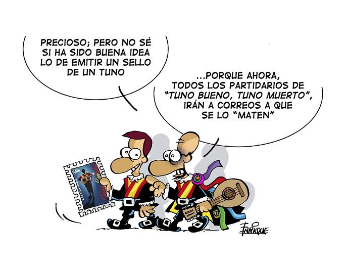 TunaEspaña-Sello-Correos-DonDudo-Don-Dudo-Carlos-Espinosa-Celdran-Tuna-Universitaria