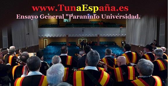 TunaEspaña, Paraninfo Universidad, Ensayo General, cancionero tuna, juntamento, canciones de Tuna