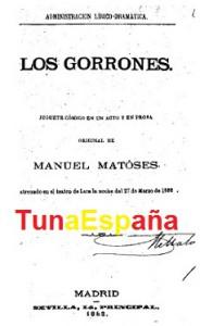 TunaEspaña, Bibliografia Tuna, Hemeroteca Tuna, gorrones, 01