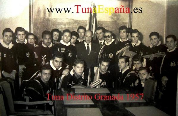 Con el Gobernador de Burgos (Dicbre. 1957) TunaEspaña Tuna Distrito de Granada