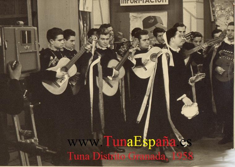 En TVE 1957. Paseo de La Habana TunaEspaña Tuna Distrito de Granada