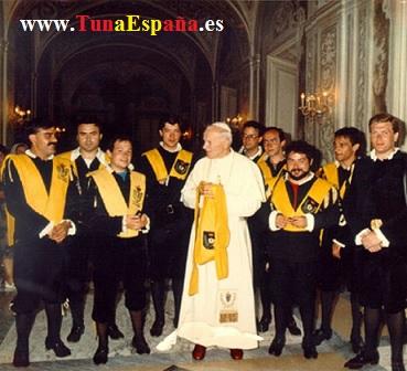 TunaEspaña,Papa Juan Pablo II,  Tuna Medicina Valladolid,