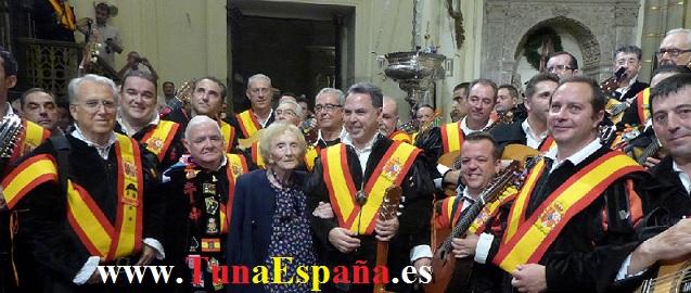 TunaEspaña, Catedral Murcia, cancionero tuna, tuna universitaria, Doña Pilar de la Cierva, canciones tuna