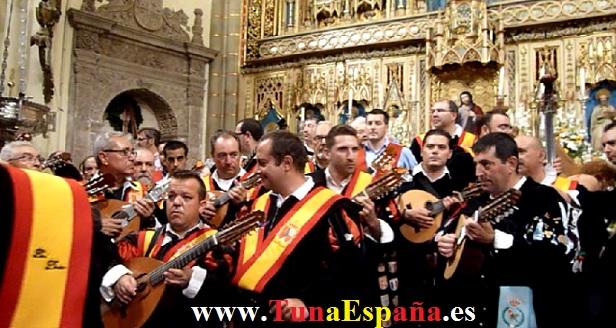 Tunas de España, Censo Tuna, Cancionero Tuna, Tuna Universitaria, Catedral Murcia, 03