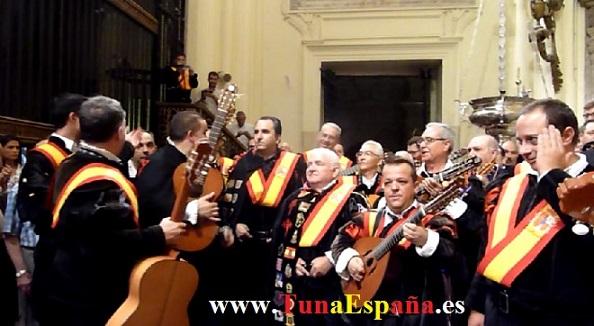Tunas de España, Censo Tuna, Cancionero Tuna, Tuna Universitaria, Catedral Murcia, 13