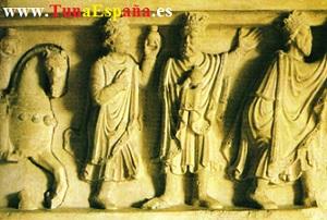 TunaEspaña, capitel del claustro de la iglesia de San Pedro de Soria, del siglo X