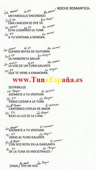 TunaEspaña, Certamen Tuna, Tuna Industriales upm, Cancionero tuna, Canciones de tuna, 01