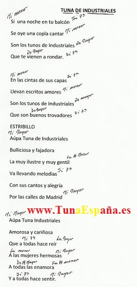 TunaEspaña, Certamen Tuna, Tuna Industriales upm, Cancionero tuna, Canciones de tuna, 03