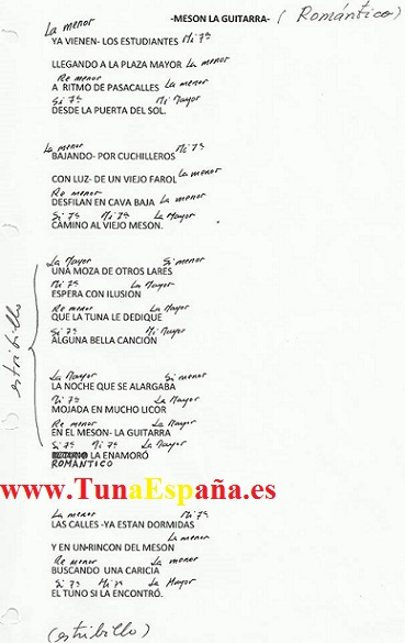 TunaEspaña, Certamen Tuna, Tuna Industriales upm, Cancionero tuna, Canciones de tuna, 041