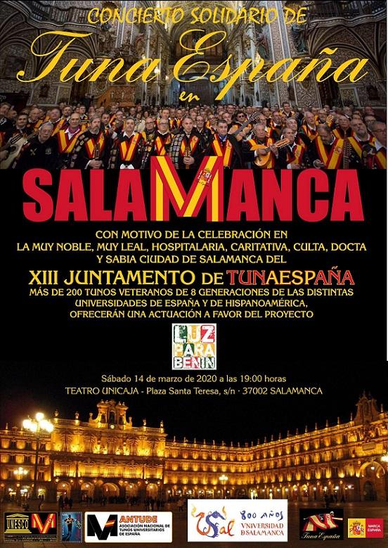 TunaEspaña, Juntamento Salamanca, DonDudo, Carlos Espinosa, Actuacion Benefica