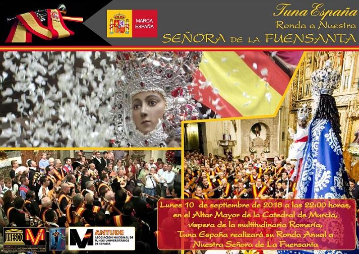 TunaEspaña, don dudo, virgen de la fuensanta, catedral murcia
