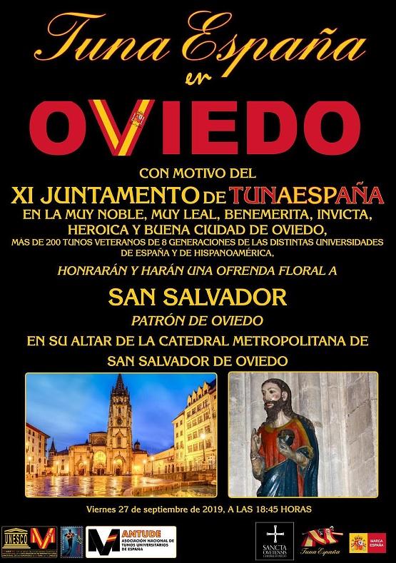 juntamento-tunaespaña-oviedo homenaje patron San SAlvador-don-dudo-carlos-espinosa-celdran