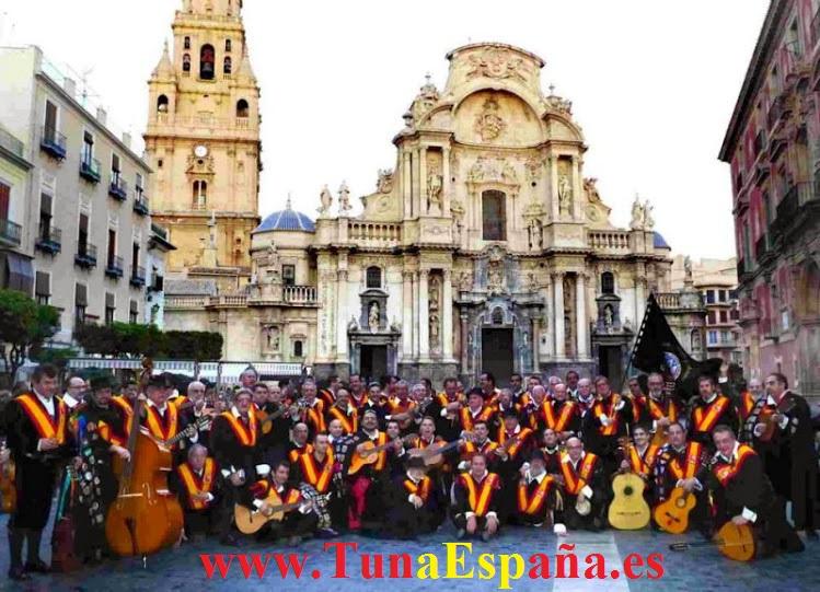 TunaEspaña, Tuna España, Cancionero Murcia, Canciones de tuna, Musica de Tuna, Tuna Medicina Murcia, Hemiciclo Universidad, Catedral Murcia, tuna universitaria
