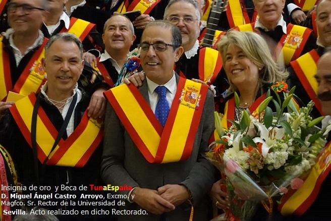 TunaEspaña, Don Dudo, Carlos Espinosa Celdran, D.Miguel Ángel Castro Arroyo, Excmo. y Magfco. Sr. Rector de la Universidad deSevilla
