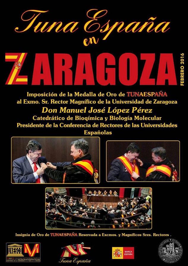 TunaEspaña, Don Dudo, DonDudo, Carlos Espinosa Celdran, Rector de zaragoza, tuna