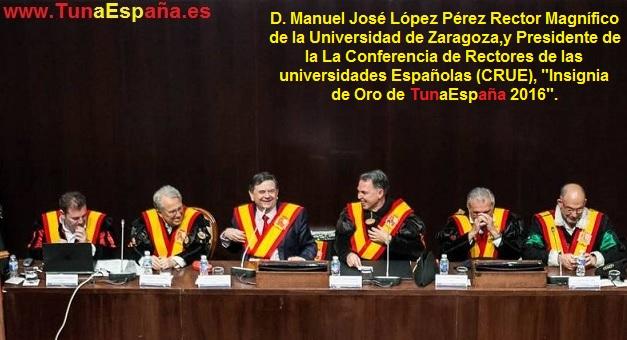 TunaEspaña, Don Dudo, Insignia de Oro, Rector universidad, CRUE,01