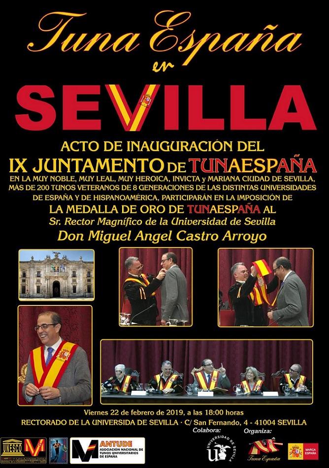 TunaEspaña,Sevilla, Carlos Espinosa Celdran, Don Dudo, D.Miguel Ángel Castro Arroyo,Rector de la Universidad deSevilla. Rectorado