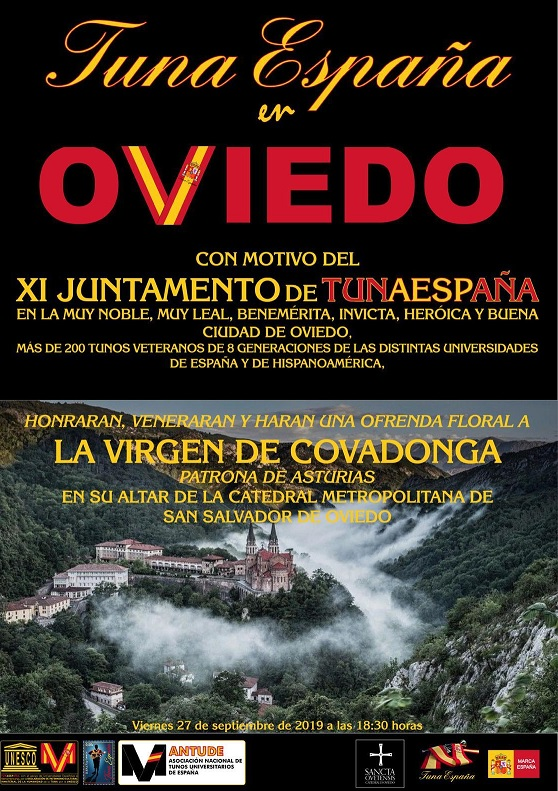 Tuna España – Universitaria » Blog Archive » juntamento-tunaespaña-oviedo -homenaje-virgen-de-Covadonga-don-dudo-carlos-espinosa-celdran-1