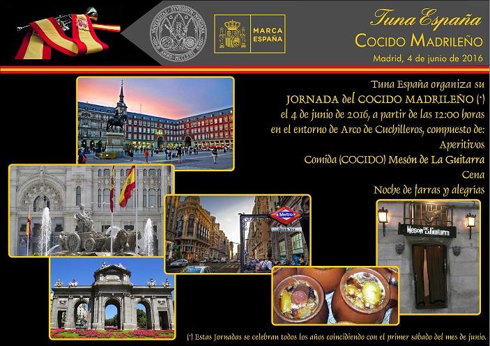 TunaEspaña, Cocidito Madrileño, pasacalles Tuna,
