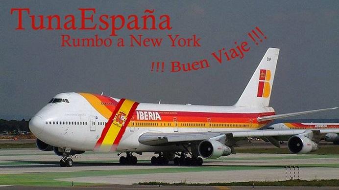 TunaEspaña, Avion, Nueva York, Iberia