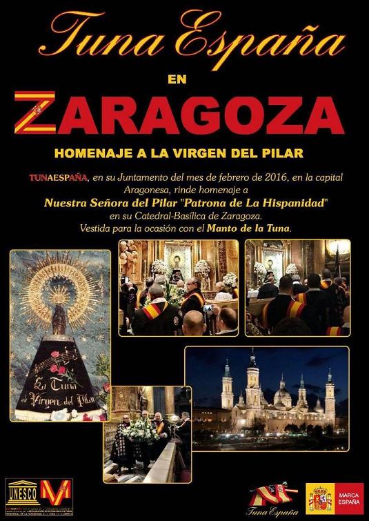 TunaEspaña, Don Dudo, Basilica del Pilar, Virgen del Pilar, dism