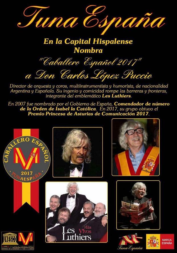 Tuna España, Don Dudo, DonDudo, TunaEspaña, Les Luthiers, carlos Espinosa Celdran,70