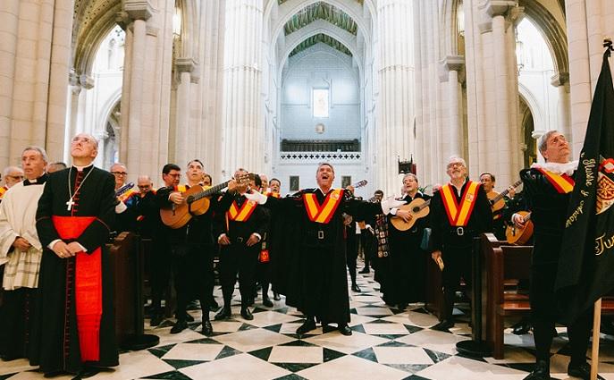 TunaEspaña, Tuna España, DonDudo, Don Dudo, Carlos Espinosa Celdran, Virgen Almudena, Cardenal Arzobisp de Madrid Carlos Osoro,1buena