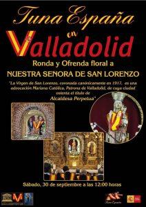 TunaEspaña, Carlos Espinosa Celdran, DonDudo, Don Dudo, Virgen de SAn Lorenzo, Tuna España, Juntamento Valladolid