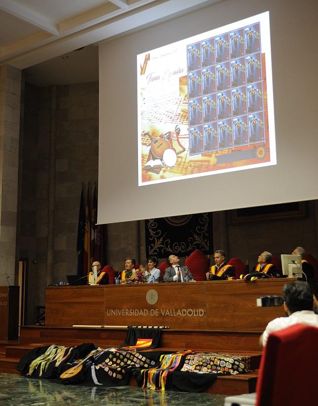 TunaEspaña, Carlos Espinosa Celdran, Juntamento,Don Dudo, DonDudo, Rector Universidad Valladolid, Sello de Correos TunaEspaña,104a
