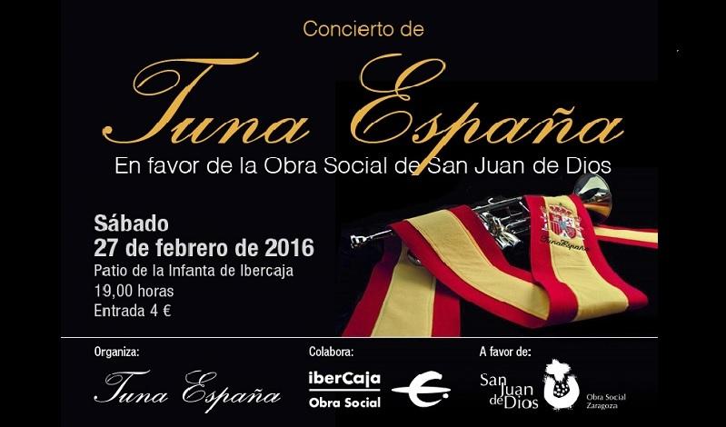 TunaEspaña, Don Dudo, DonDudo, Juntamento Zaragoza, Carlos I. Espinosa Celdran, Acto Benefico TunaEspaña
