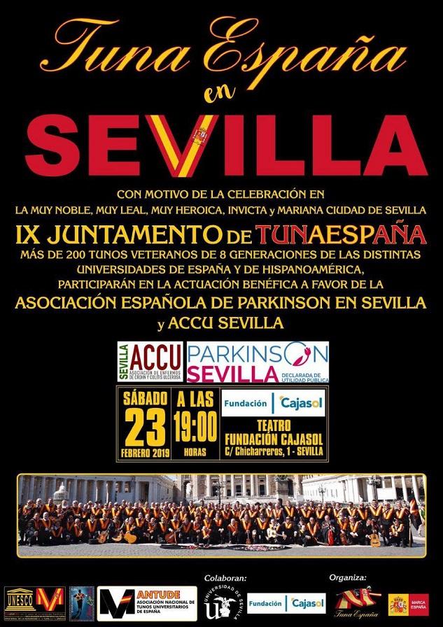 TunaEspaña, actuacion benefica, juntamento sevilla