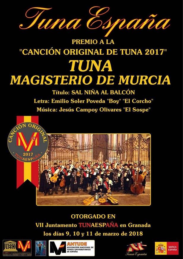 Tuna Magisterio Murcia,TunaEspaña, Carlos Espinosa Celdran, Don Dudo, Niña Definitivo, balcon, definitivo, El Sospe, El Boy, El corcho