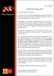 Carlos Espinosa Celdran, Don Dudo,TunaEspaña,Monografico