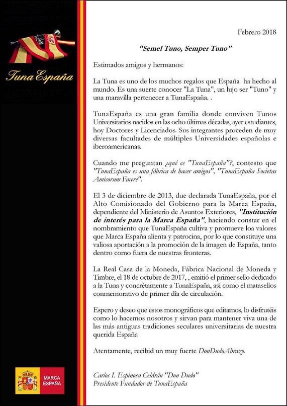 TunaEspaña Don Dudo, Carlos Espinosa Celdran,Monografico,