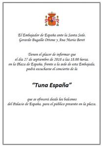 TunaEspaña, Embajada de España ante la Santa Sede, Don Dudo, Juntamento Roma
