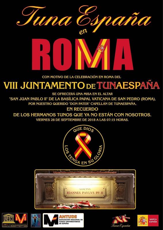 TunaEspaña, JUntamento Roma, misa vaticano,Don Dudo