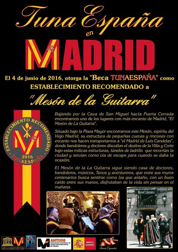 TunaEspaña, Meson de la guitarra, cocidito Madrileño