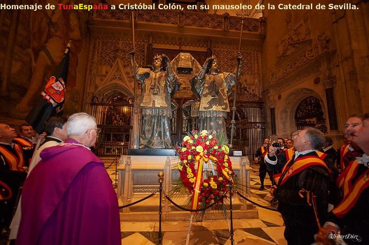 TunaEspaña,Homenaje de TunaEspaña a CRISTÓBAL COLÓN, CATEDRAL de SEVILLA. 5