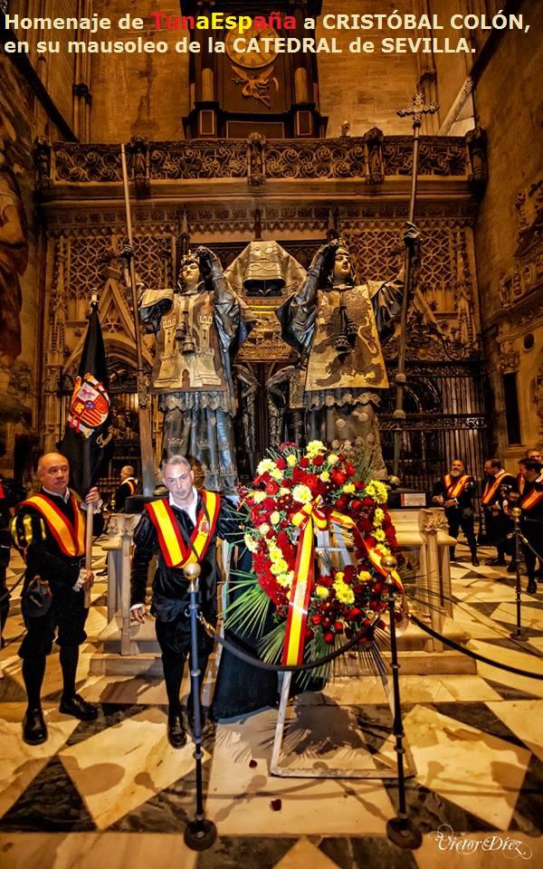 TunaEspaña,Homenaje de TunaEspaña a CRISTÓBAL COLÓN, CATEDRAL de SEVILLA.